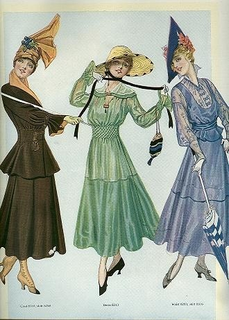 1916 April fashion from The Delineator.