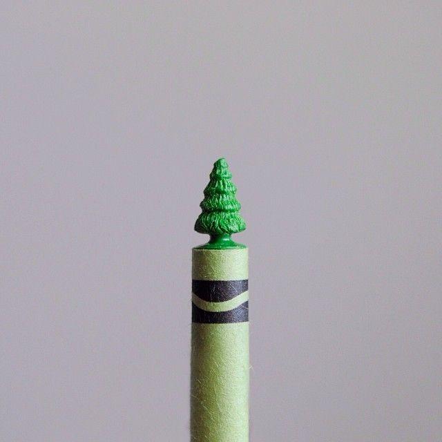 Crayon Tree via brockdavis on instagram and Tumblr