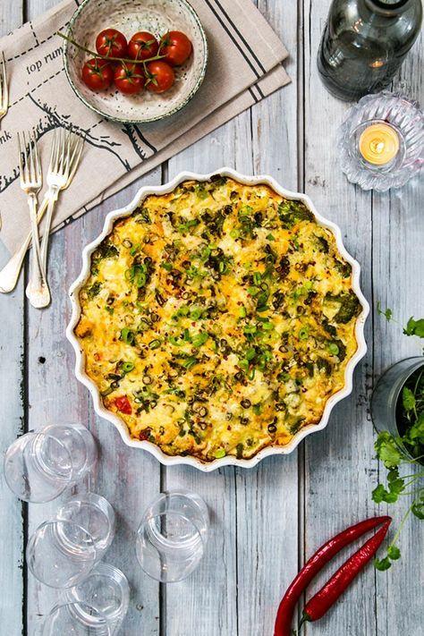 Kycklinggratäng med bacon, blomkål och broccoli