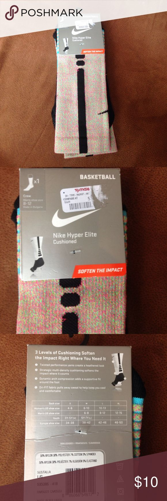 Nike Basketball Socks Can be unisex, Size L, men's shoe size 8-12, women's shoe size 10-13, bundle with another pair of Nike socks get a discount ! Nike Accessories Hosiery & Socks