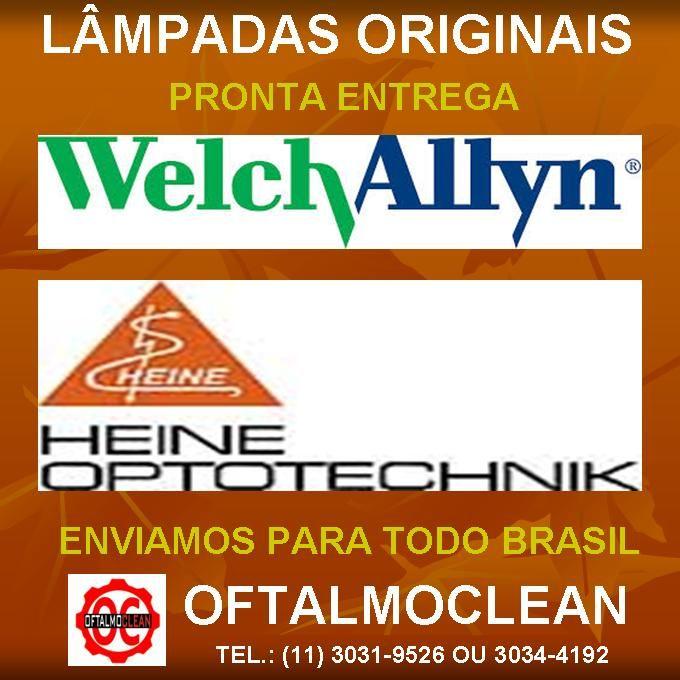 Oftalmoclean Lampadas Welch Allyn 08200 04900 03100 02800 03400 01200 Diretas E Indiretas Indiretas Assistencia Tecnica