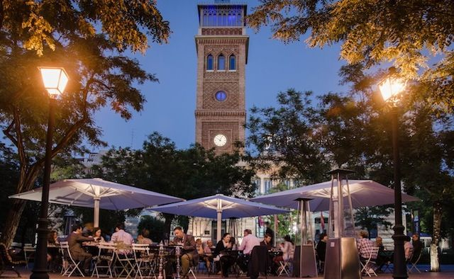 Terraza de Shukran restaurante libanés en la Casa Árabe #Madrid