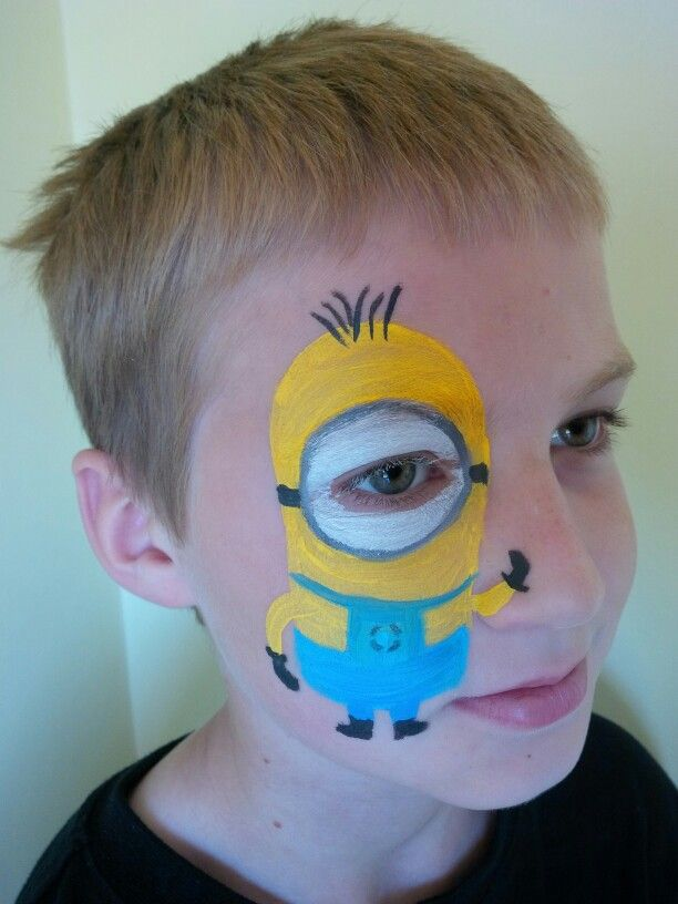 Minion Face Paint