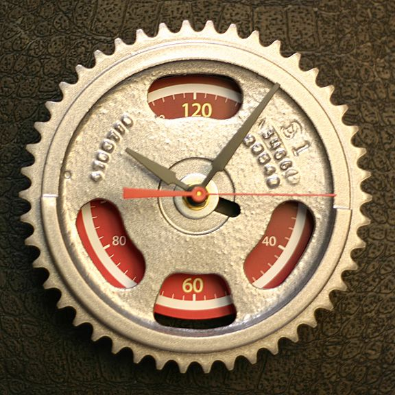 This is great: it's a gear wall clock for the man cave Auto Parts Furniture available at Tatted Picker Etsy www.TattedPicker.com