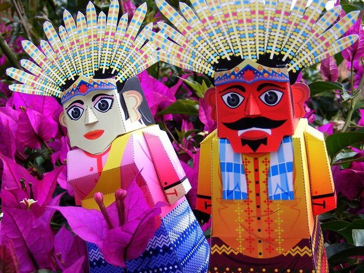 Ondel-ondel the form of a large doll that is about ± 2.5 m with a diameter of ± 80 cm, In Pasundan known as Badawang, in Central Java Beans called Barongan.