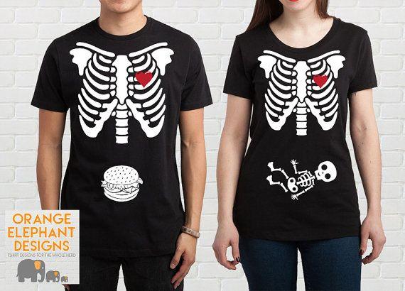Halloween Pregnancy Shirt  New Parent by OrangElephantDesigns