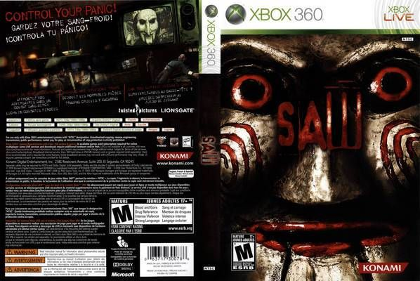 Video Games Covers - Saw The Video Game - XBOX 360