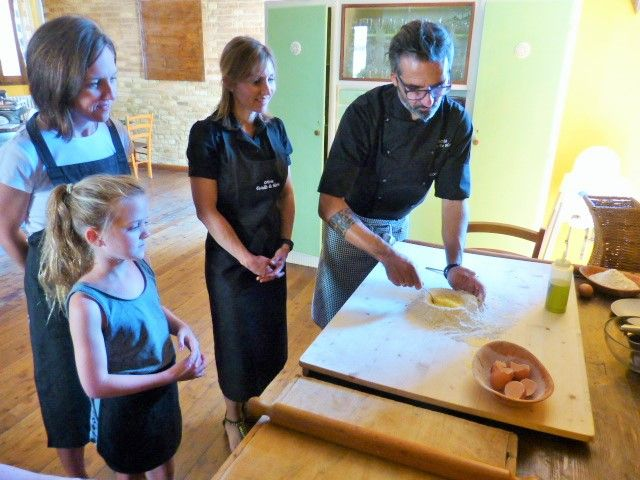 Learning how to make fresh egg pasta with Fabio