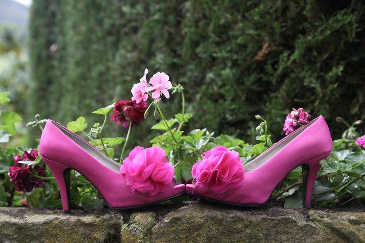 Zapatos de novia, fucsia