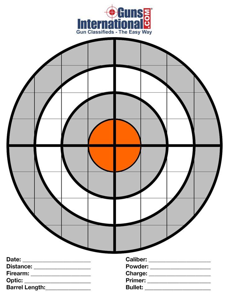 "Printable Free Targets. 8"" Target"