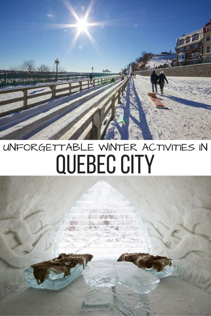 10 unforgettable winter activities to enjoy in Quebec City, Canada.
