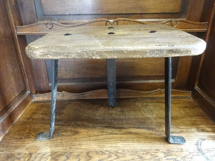 Vintage French Small Wooden Black Metal Step Stool Small Chair Seat Kitchen Table Reworked circa 1930u0027s & Best 25+ Metal step stool ideas on Pinterest | Vintage metal ... islam-shia.org