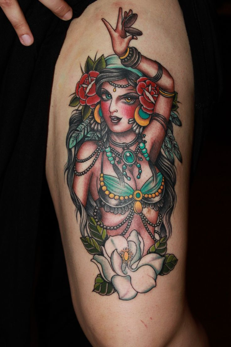 Valerie Vargas, Valarie Vargas tattoo, belly dancer tattoo, best tattoo studio nyc, best tattoo shop, woman tattoo