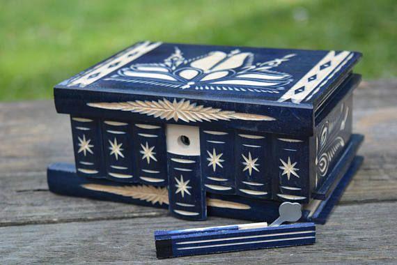 Trick box Mystery box Wooden Magic Box Hungarian secret box
