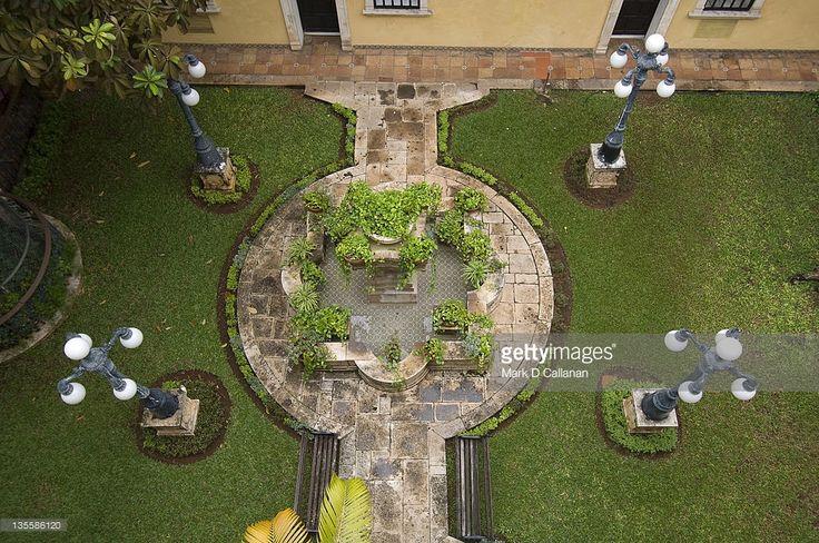 Mexican Courtyard Gardens   Courtyard Garden Of Hotel Caribe Merida Yucatan Mexico Stock Photo ...
