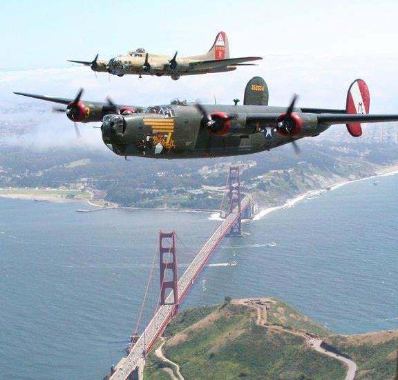 B-17, B-24 & the golden gate