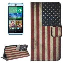 HTC Desire Eye Flip cover, case, hoesje, frontje USA vlag