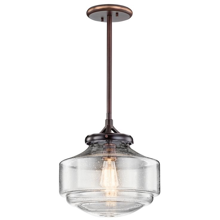 Craftsman Kitchen: Keller 1 Light Pendant in Shadow Brass