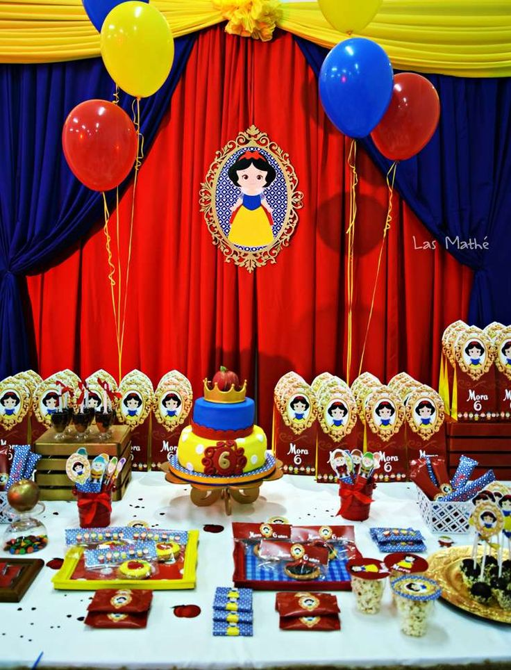 Elaborate Snow White birthday party! See more party ideas at CatchMyParty.com!