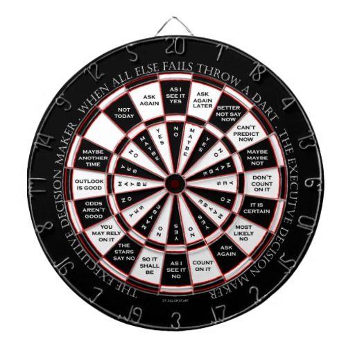 The Executive Decision Maker Magic 8 Ball Style Dartboards