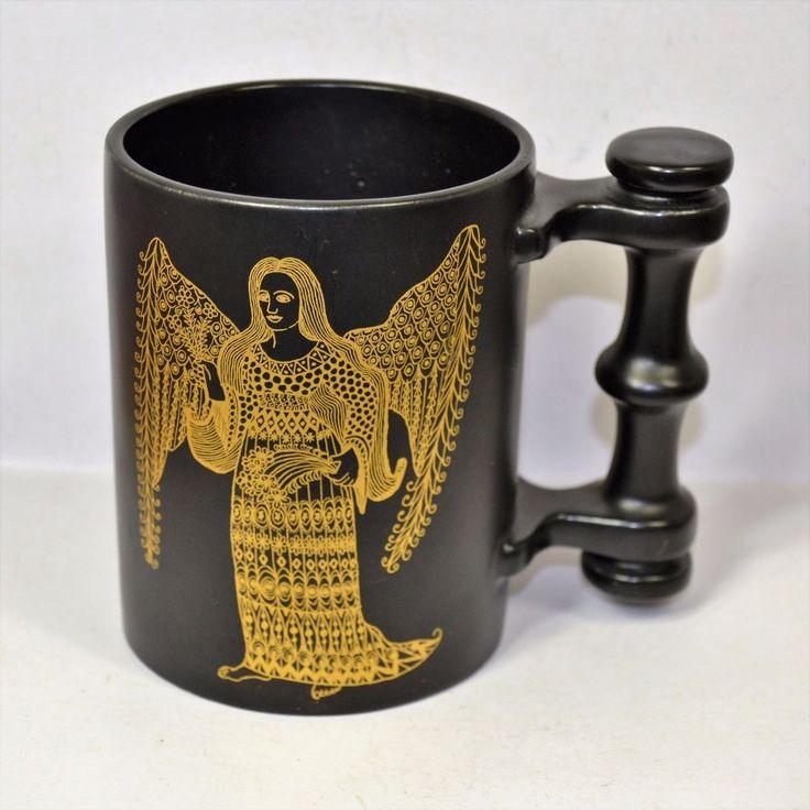 Vintage Virgo the Virgin Zodiac by John Cuffley Portmeirion Pottery Mug England #PortmeirionPottery
