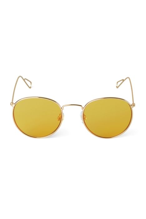 Weekday Explore Rounded Sunglasses in Gold