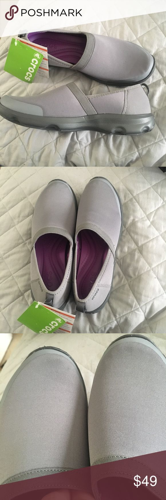 Women's Crocs duet busy day 2.0 size 10 Women's crocs size 10 smoke/graphite shoes. This is brand new never worn. CROCS Shoes