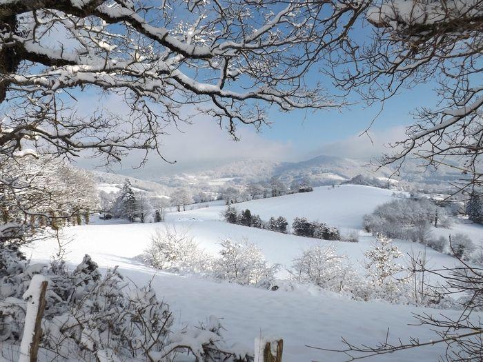 Les Monts de Lacaune enneigés