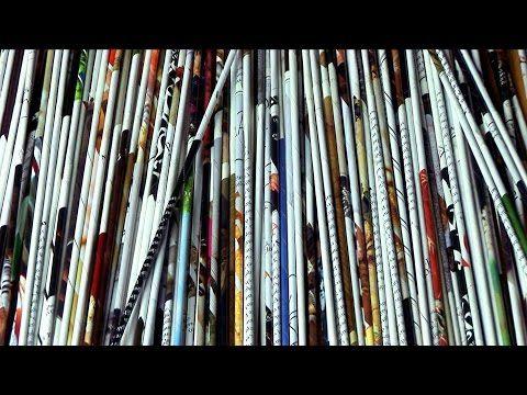 Tuto Eco Vannerie en papier : les rouleaux (1) - YouTube