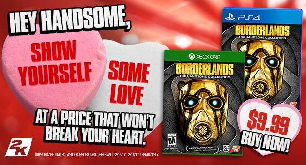 Borderlands: Handsome Collection(physical) for $9.99 for Valentines sale!! Usually $25 #Playstation4 #PS4 #Sony #videogames #playstation #gamer #games #gaming