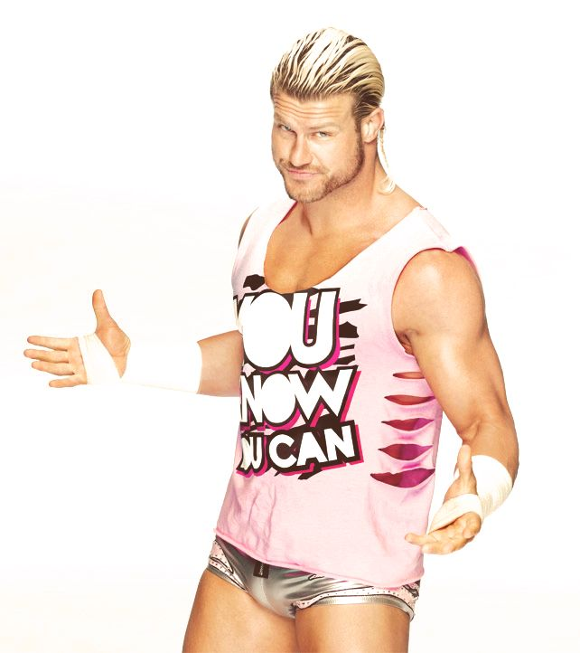 Dolph ziggler in his signature t-shirt to raise money for cancer research and prevention. Silly fun for a good cause