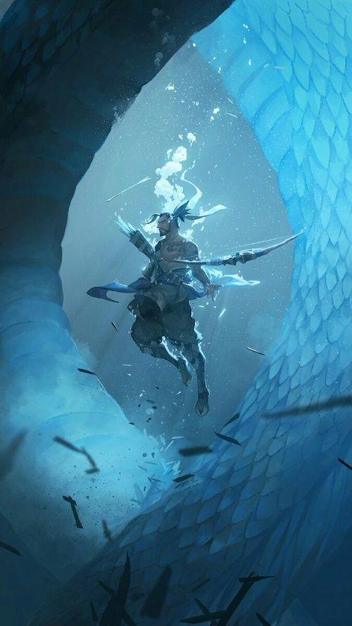 Imagen de blue, dragons, and water