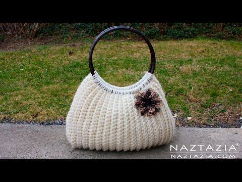 DIY Tutorial Easy Crochet Savvy Handbag Purse Tote - Croche Bolsa Bag - YouTube