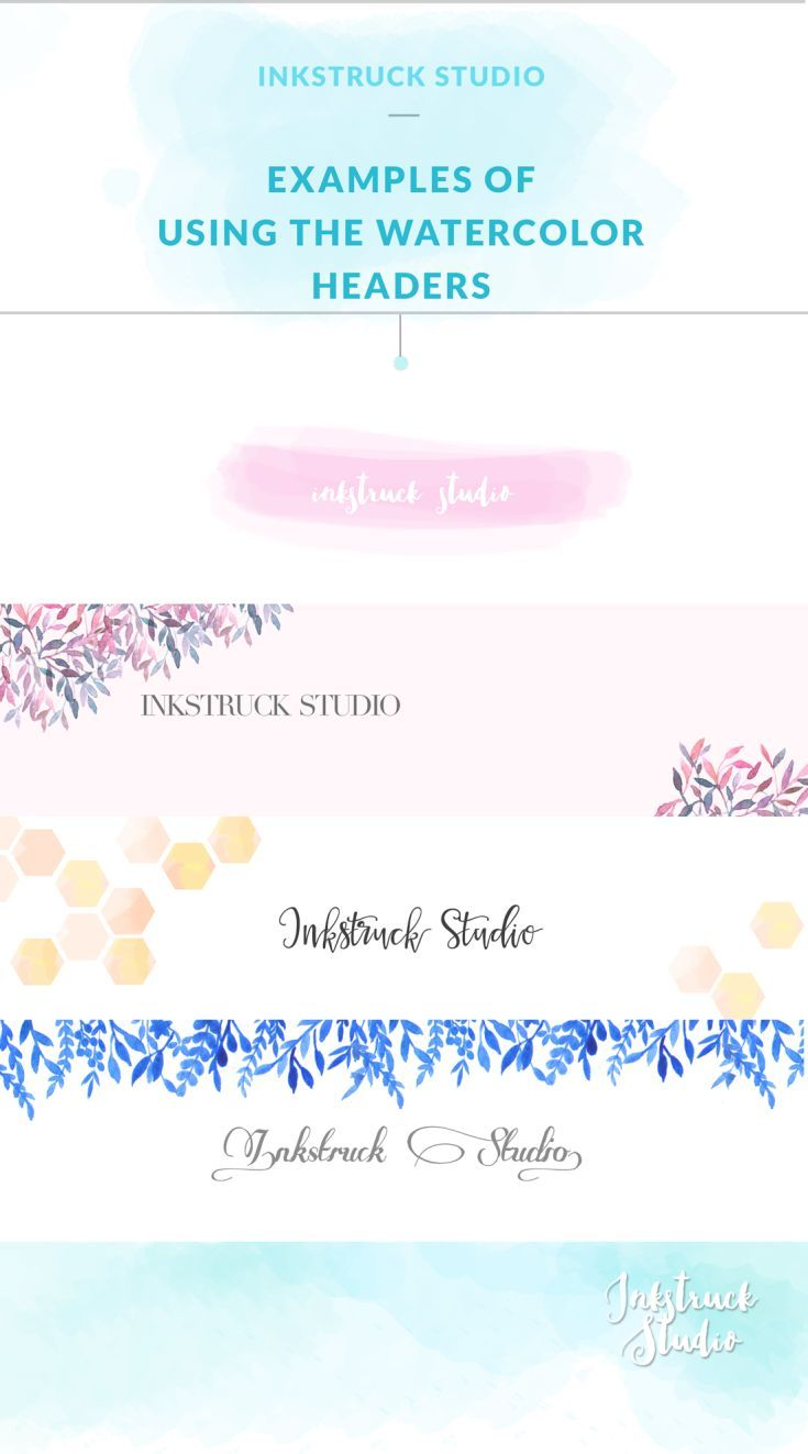 Download five free watercolor blog headers that will make your website/shop look amazing.Each header is different and you can use what suits your blog best.