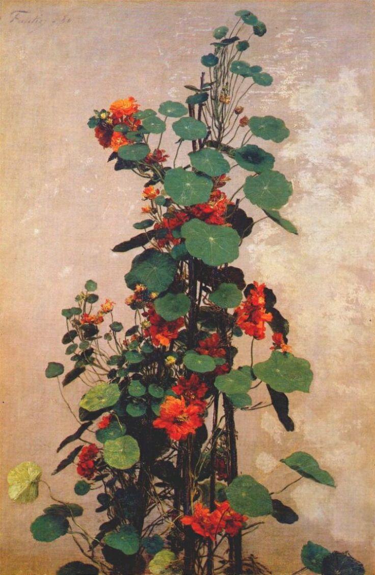 Nasturtiums - Henri Fantin-Latour - 1880