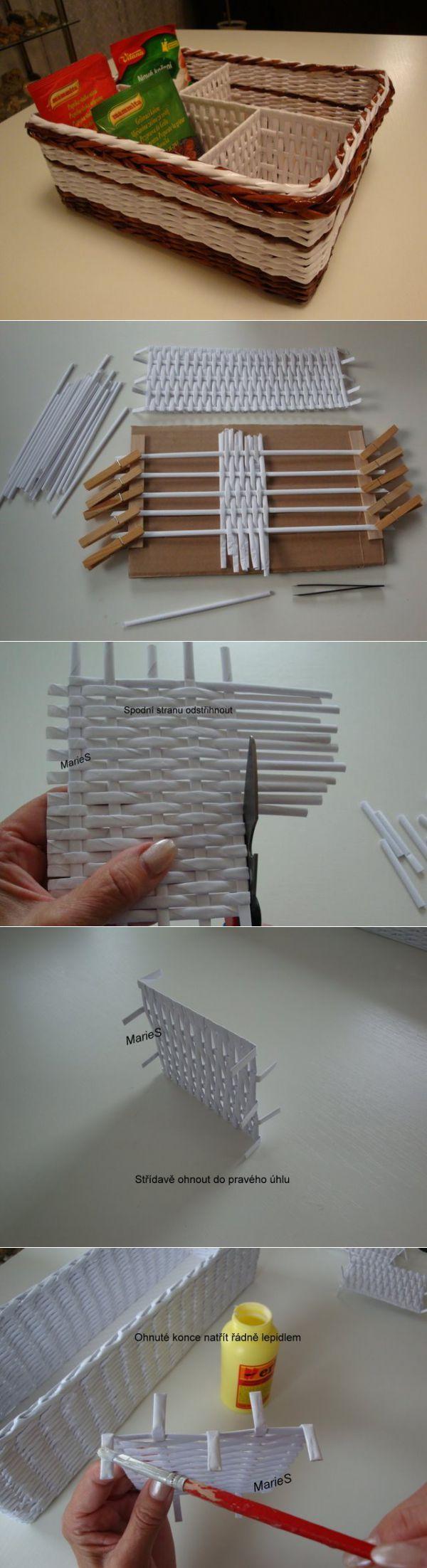 Как сделать коробочку с перегородками.Очень подробный Мастер-класс. | Плетение из газет | Постила