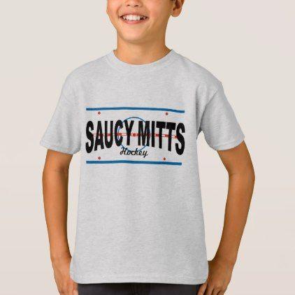 #Youth Hockey Saucy Mitts Hockey Center Ice T-Shirt - #cool #kids #shirts #child #children #toddler #toddlers #kidsfashion