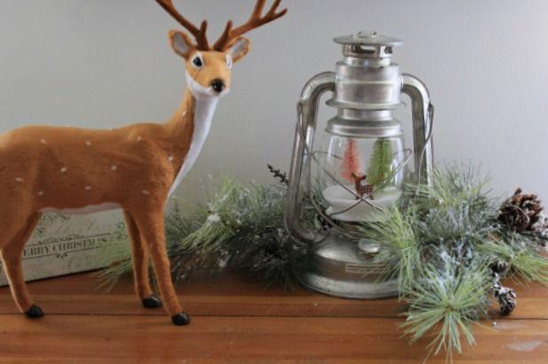 How to make a snow globe, lantern, globe, deer, Christmas, snow, trees