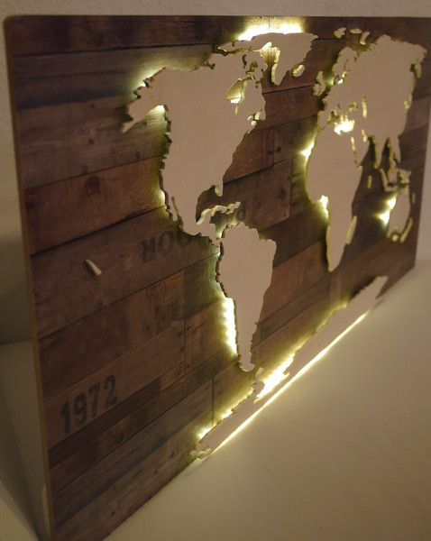 beleuchtete holz weltkarte amundsen 128x78cm