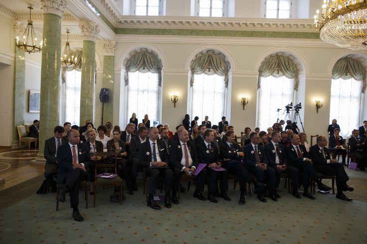 sala kolumnowa pałac prezydencki prezesi wolontariusze odznaczeni pawel ornatek