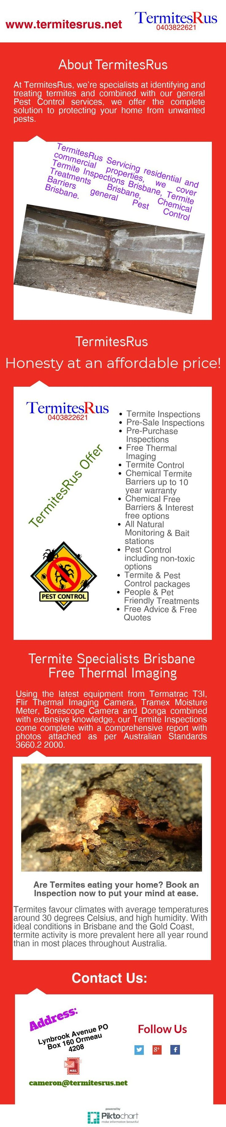 Best Chemical Termite Barriers in Brisbane : TermitesRus providing pest control for the house and for offices to protect your furniture from the pests. Our Chemical Termite Barriers in Brisbane are the best option for freedom from termites.