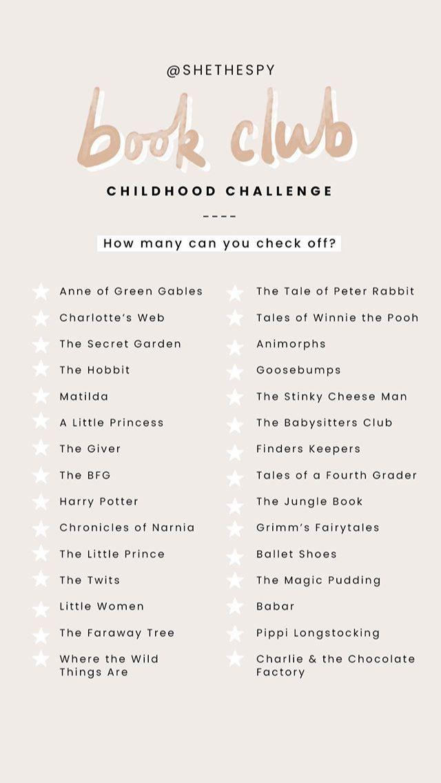 bookclub childhood challenge  #bookchallenge #bookclub #Challenge #Childhood