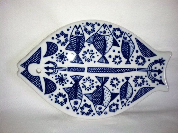 Gorgeous Porsgrund fish trivet - I have 2 of these but promised them to my sister (it belonged to our mom).
