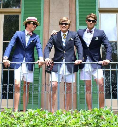 Navy Blazer With Gold Buttons Bow Tie And White Shorts Wearing This Outfit To My Yacht Club 39 S