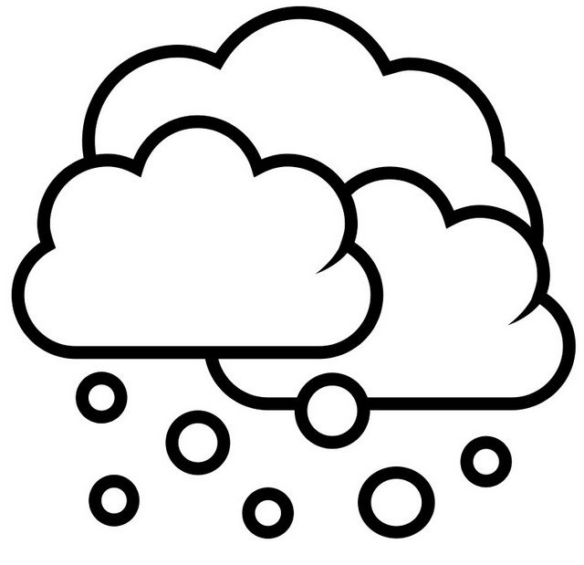 Simple Snow Cloudy Coloring Page For Kids Coloring Pages Coloring Pages For Kids Image Cloud