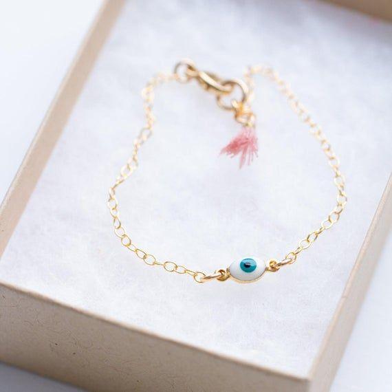 Eye bracelet ~ Protection Layered bracelet ~ Evil eye charm ~ Evil eye Kids protection Jewellery