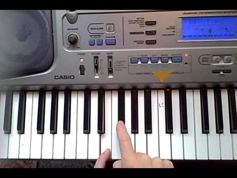 Jak najít akordy na klávesách - YouTube