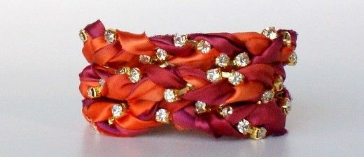 Love this braided wrap bracelet - on my projects-to-do list!