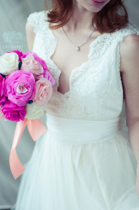 Wedding dress // Brianne // 2 pieces par CarouselFashion sur Etsy, $1050.00
