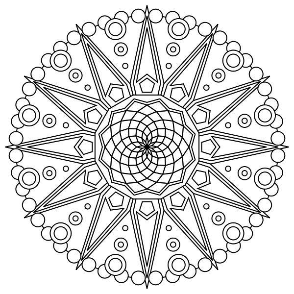 Mandala Design Free Printable Coloring